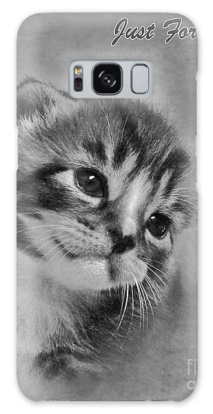 Kitten Just For You Galaxy Case by Terri Waters