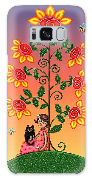 Kitty And Bumblebees Galaxy Case