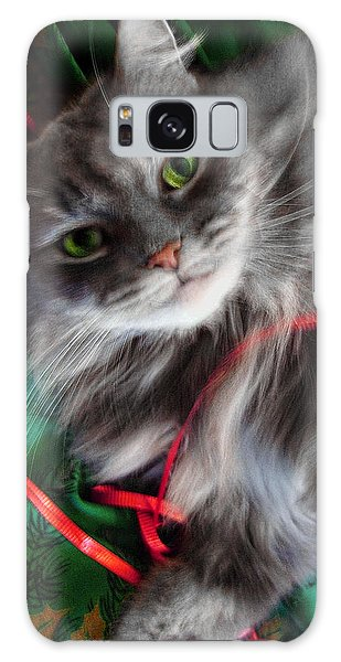 Kitty Christmas Card Galaxy Case