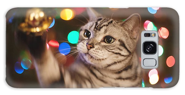 Kitty In The Lights Galaxy Case