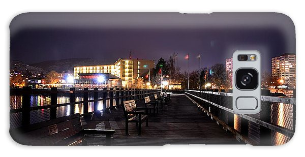 Kiwanis Walking Pier Night Galaxy Case by Guy Hoffman