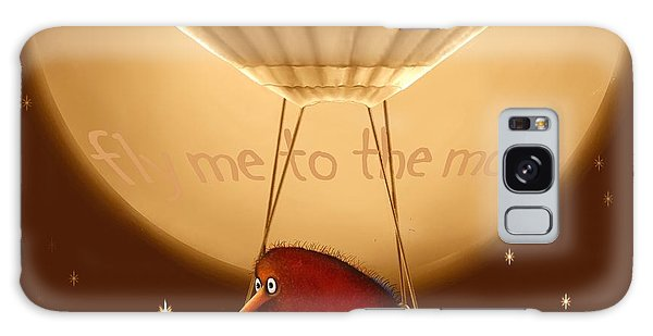 Kiwi Bird Kev - Fly Me To The Moon - Sepia Galaxy Case