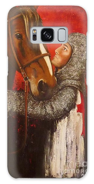 Knight And Horse Galaxy Case