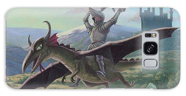 Knight Riding On Flying Dragon Galaxy Case by Martin Davey