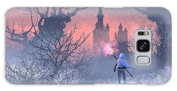 Weapons Galaxy Case - Knight With Trident In Winter by Tithi Luadthong
