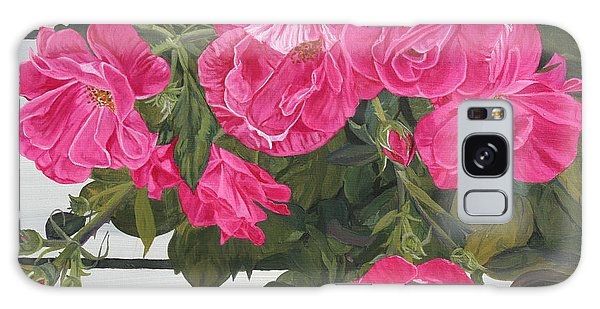 Knock Out Roses Galaxy Case by Wendy Shoults