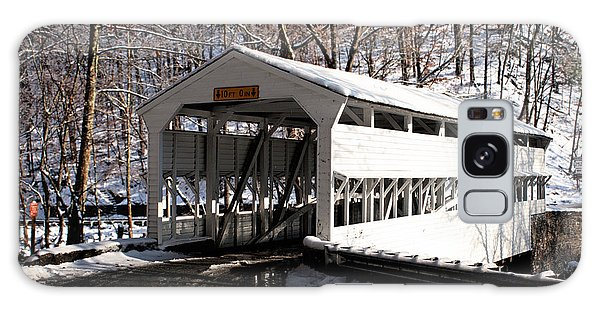 Knox Bridge In The Snow Galaxy Case
