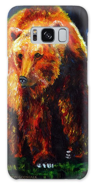Kobuk's Domain Contemporary Bear Painting Galaxy Case