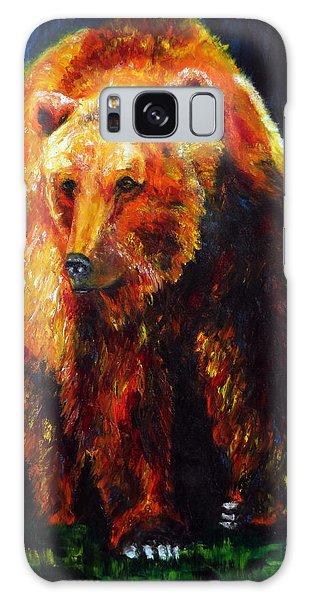 Kobuk's Domain Contemporary Bear Painting Galaxy Case