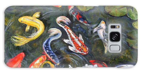 Koi Among The Lily Pads Galaxy Case by Sandra Nardone