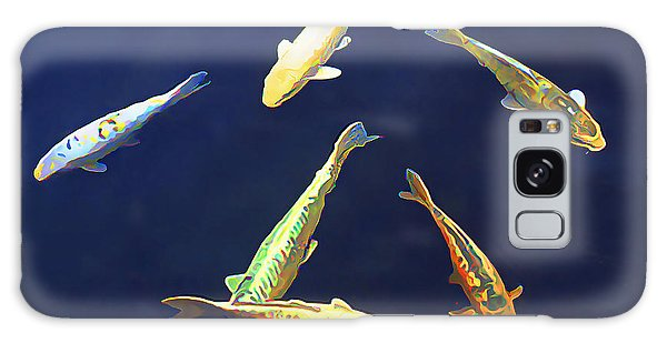 Koi Floating In Blue Galaxy Case by Wernher Krutein