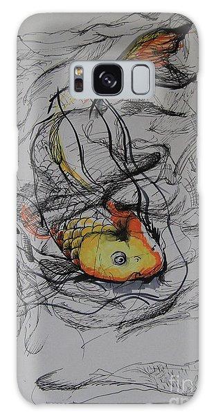 Koi In My Pillow Galaxy Case by Iglika Milcheva-Godfrey