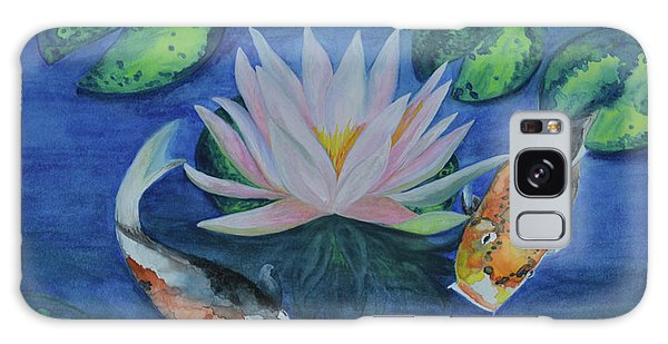 Koi In The Lily Pond Galaxy Case by Suzette Kallen