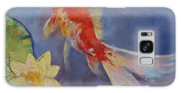 Collectibles Galaxy Case - Koi On Blue And Mauve by Michael Creese
