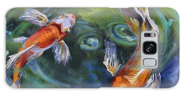 Koi Swirl Galaxy Case by Donna Tuten
