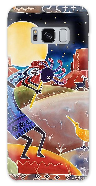 Myth Galaxy Case - Kokopelli Sings Up The Moon by Harriet Peck Taylor