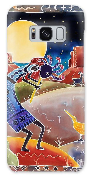 Native American Galaxy Case - Kokopelli Sings Up The Moon by Harriet Peck Taylor