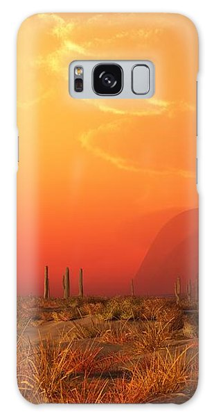 Kokopelli Sunset Galaxy Case