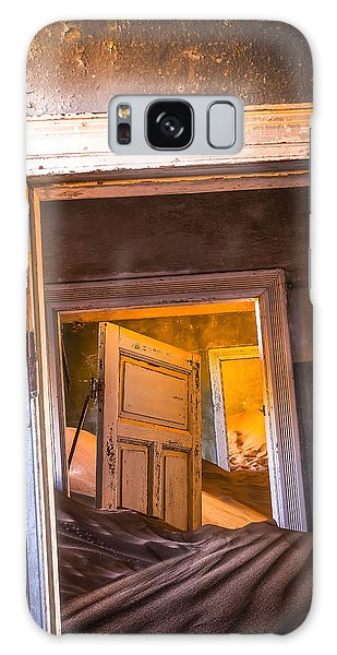 Sand Dunes Galaxy Case - Kolmanskop - Blue Room by Xenia Ivanoff-erb