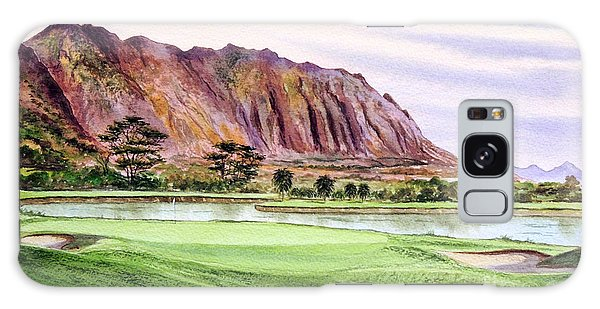 Koolau Golf Course Hawaii 16th Hole Galaxy Case by Bill Holkham