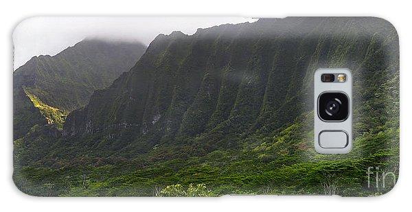 Ko'olau Mountain Range Galaxy Case by Gina Savage