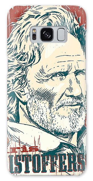 Kris Kristofferson Pop Art Galaxy Case by Jim Zahniser