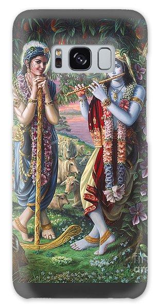 Krishna And Balaram  Galaxy Case