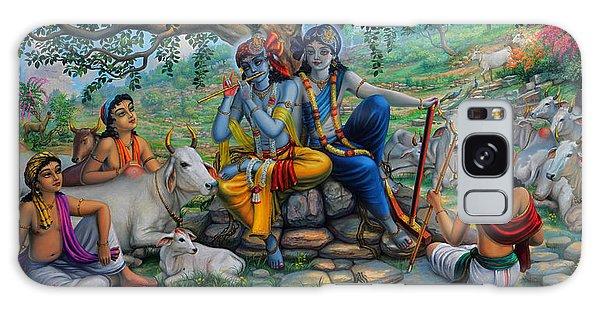 Krishna And Balaram With Friends On Govardhan Hill Galaxy Case