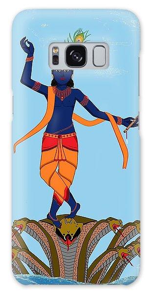 Krishna Dancing On Kaliya Galaxy Case