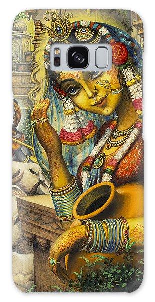 Krishna Is Here Galaxy Case