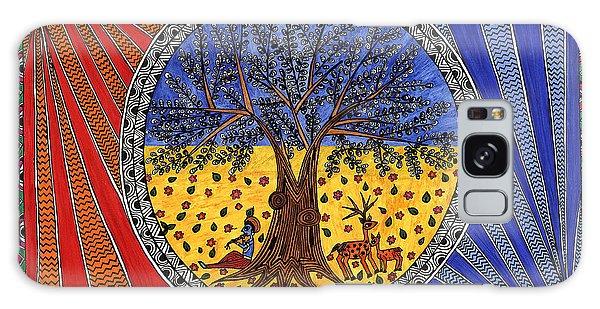 Madhubani Galaxy Case - Krishna by Vasvi Srivastava