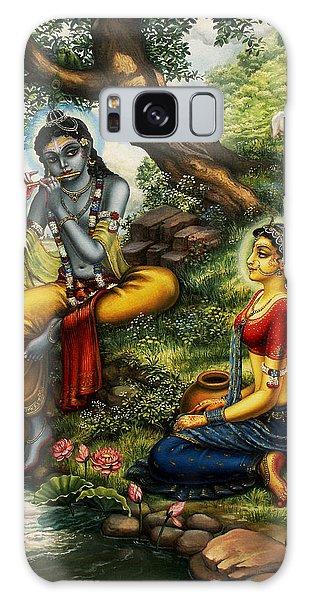 Krishna With Radha Galaxy Case