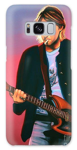 Cd Galaxy Case - Kurt Cobain In Nirvana Painting by Paul Meijering