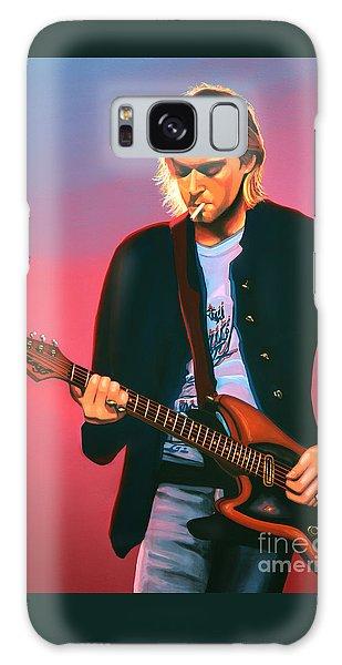 Kurt Cobain In Nirvana Painting Galaxy Case