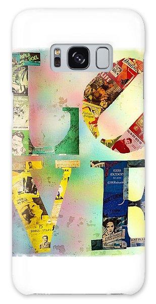 L O V E Galaxy Case by Jordan Blackstone