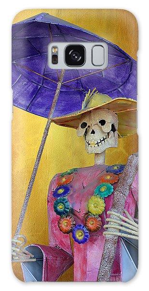 Calavera Galaxy Case - La Catrina With Purple Umbrella by Christine Till