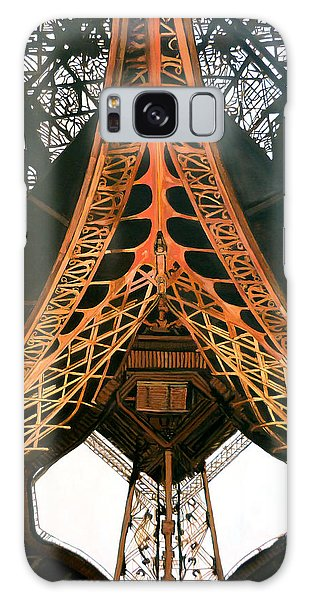 Galaxy Case featuring the painting La Dame De Fer by Tom Roderick