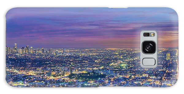 La Fiery Sunset Cityscape Skyline Galaxy Case