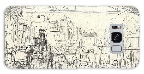 Trains Galaxy Case - La Gare Saint Lazare by Claude Monet