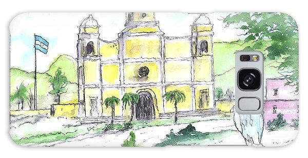 La Iglesia En Santa Barbara Honduras Galaxy Case