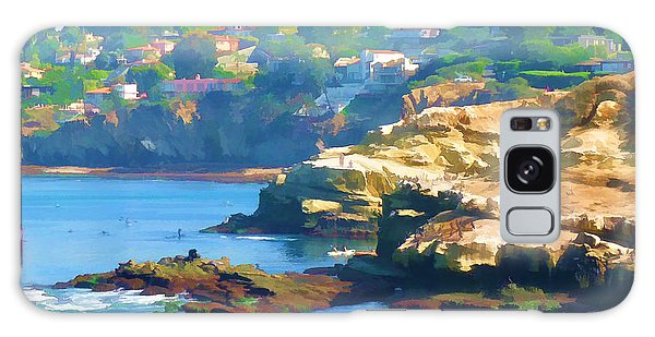 La Jolla California Cove And Caves Galaxy Case