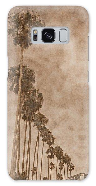 La Jolla Palm Trees Galaxy Case