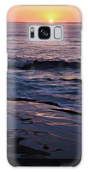 La Jolla Sunset Reflection Galaxy Case by Sharon Soberon