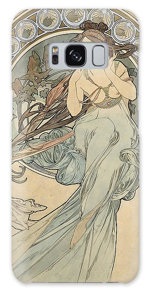 Dress Form Galaxy Case - La Musique, 1898 Watercolour On Card by Alphonse Marie Mucha