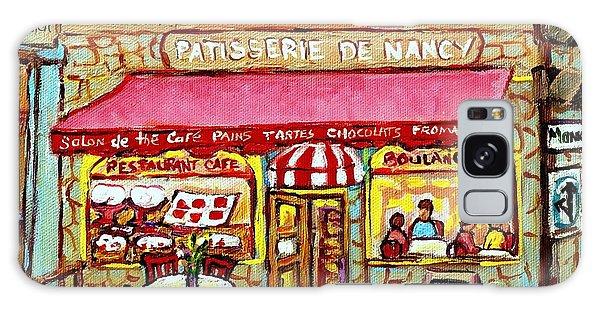 La Patisserie De Nancy French Pastry Boulangerie Paris Style Sidewalk Cafe Paintings Cityscene Art C Galaxy Case