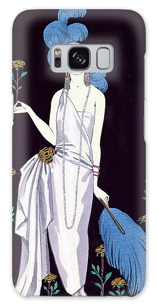 Ostrich Galaxy Case - 'la Roseraie' Fashion Design For An Evening Dress By The House Of Worth by Georges Barbier