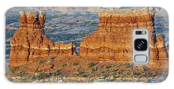 La Sal Mountains View Point Arches National Park Galaxy Case