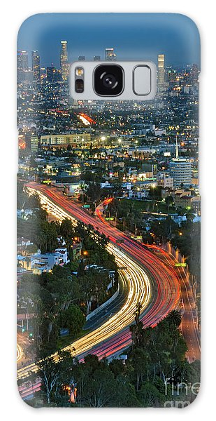 La Skyline Night Magic Hour Dusk Streaking Tail Lights Freeway Galaxy Case