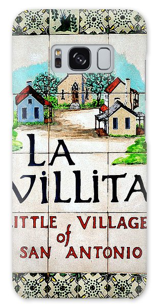 La Villita Tile Sign On The Riverwalk San Antonio Texas Watercolor Digital Art Galaxy Case