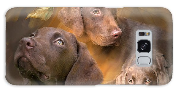 Chocolate Lab Galaxy Case - Lab In Autumn by Carol Cavalaris